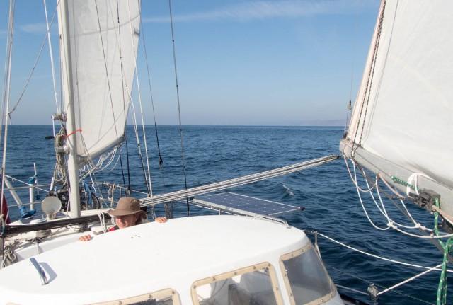 Easy, fast downwind sailing...