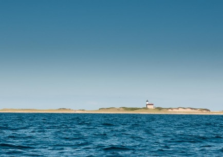 The lighthouse on the Northern end of Block Island.