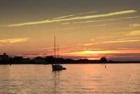 Sunset on Great Salt Pond.