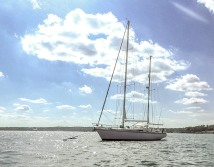Our favorite boat in Narragansett Bay, our very own Harmonie!