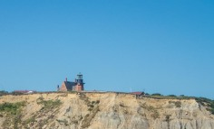 The brick lighthouse on the southern tip of Block Island.