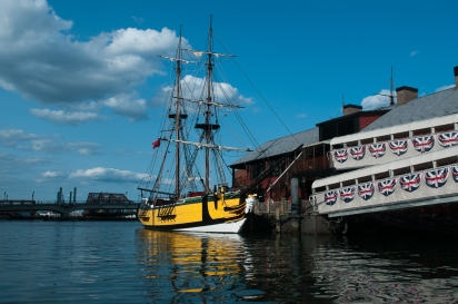 The replica of the British ship Beaver at the Boston Tea Party Museum.