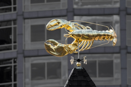 In Boston the Lobster is second only to the Cod as a symbol of prosperity from the sea.