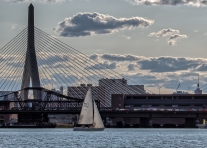 Harbor sailing in Boston.