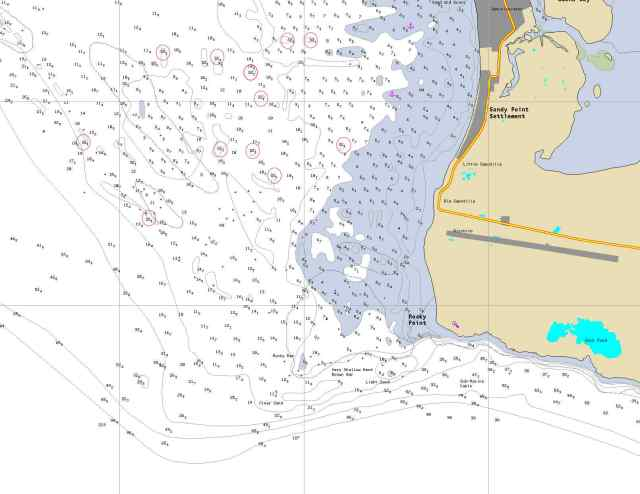 Navionics at Sandy Point